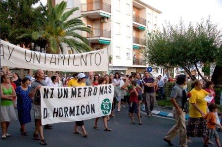 Manifestación del viernes 28 de agosto de 2009.